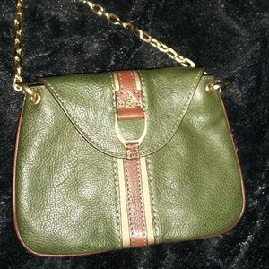 Vintage Cole Haan Green Leather Purse, New!